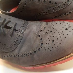 Cole Haan Zerogrand wingtip Grey, laser cut